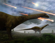 Постер, плакат: Extinction Of The Dinosaurs Meteor Shower