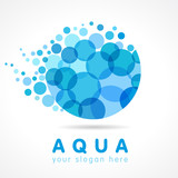 Fototapety Aqua water drop logo. Mineral natural water vector icon design