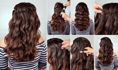 hairstyle braid for long hair tutorial