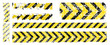 different vector worn yellow black stripe, warning of the danger