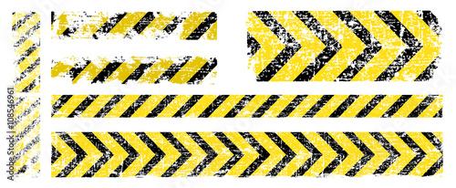 inny wektor zużyty żółty czarny pasek, ostrzeżenie o niebezpieczeństwie