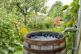 Regentonne im Garten