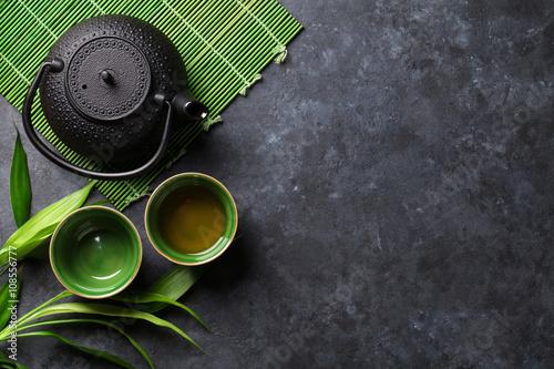 Papiers peints Sushi bar Green japanese tea
