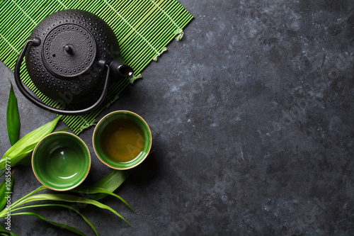 Poster Green japanese tea