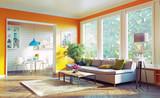 modern living room. 3d concept - 108558187