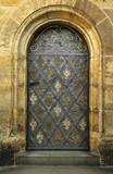 Side entrance in Castle Hradcany,  Prague.