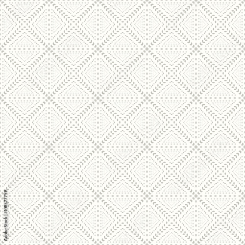 Floral seamless geometric pattern. - 108577759