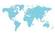 Detaily fotografie Vector blue blank world map.