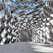 Architectural design of concrete hal