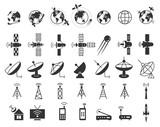 Satellite icons vector