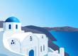 Obrazy na płótnie, fototapety, zdjęcia, fotoobrazy drukowane : Greek Orthodox church at Santorini island