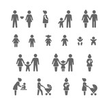 Fototapety Family and friends icon set