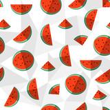 Watermelon summer background healthy fruit design