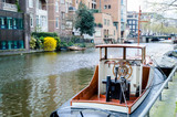 boat on Amsterdam canal