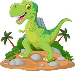 Cartoon Cute tyrannosaurus cartoon © ekyaky