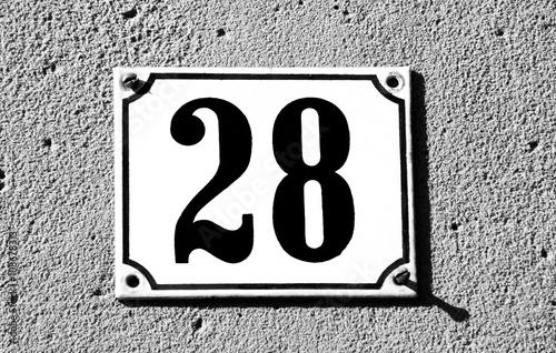 Poster Hausnummer achtundzwanzig