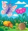 Obrazy na płótnie, fototapety, zdjęcia, fotoobrazy drukowane : Spring animals and insect theme image 2