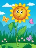Happy flower theme image 2