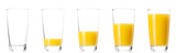 Set - glass of fresh orange juice