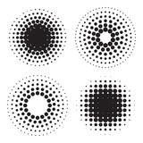 Halftone circles of dots. Design elements. Vector illustration