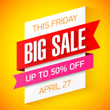This Friday only Big Sale banner