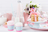 Baby shower in pastel colors