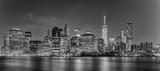 New York manhattan bridge night view - 108721314