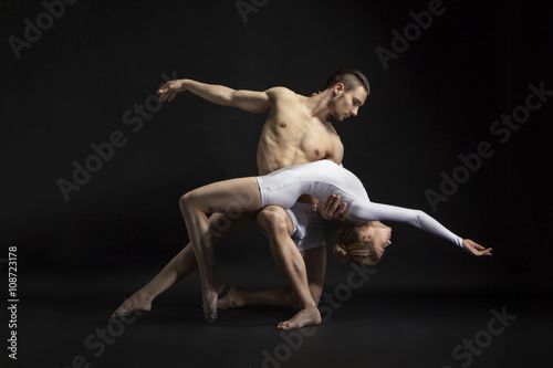 couple dancing cotemporary Poster