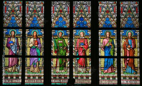 Stained Glass - Roman Catholic Saints