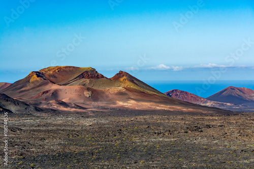 Foto op Canvas Canarische Eilanden Amazing volcanic landscape of Lanzarote island, Timanfaya national park, Spain