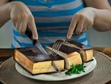 Cutting up a Bible - 108746949