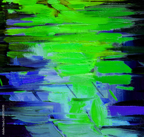 Obraz painting for interior by oil on canvas, illustration, background