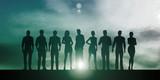 Business People Success Concept Illustration of 3d Models