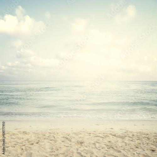 Vintage tropical beach in summer - 108777950