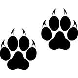 Footprints of a big cat. Panther or tiger traces. Vector ESP10
