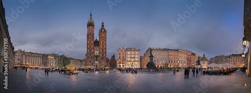 mata magnetyczna Panorama view of Krakow Market Square from the Cloth Hall