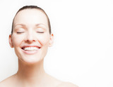 Fototapety Beauty portrait. Happy female with a bright smile.