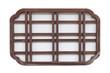 Japanese wood window frame isolated on white background