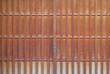Detail of Japanese house wood sliding door