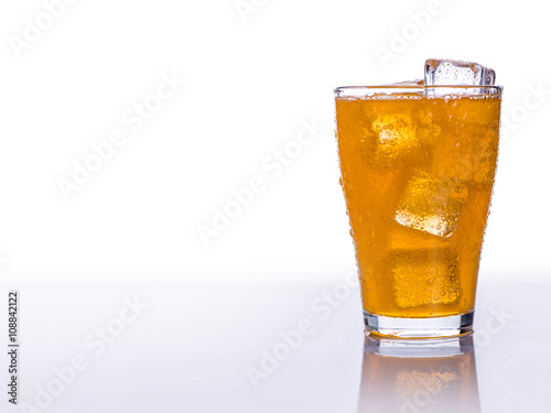 Poster Cold refreshing soft drink with ice