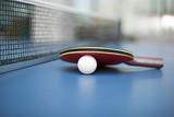 Table tennis ball and bat - 108844124