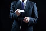 ビジネスマン、名刺、名刺交換