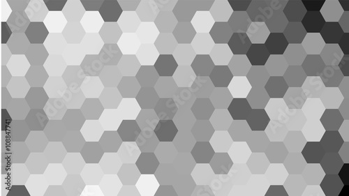 Grey geometric hexagon pattern without contour. - 108847741