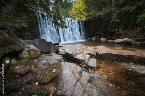 Wild Waterfall in Karkonosze Mountains - 108849541