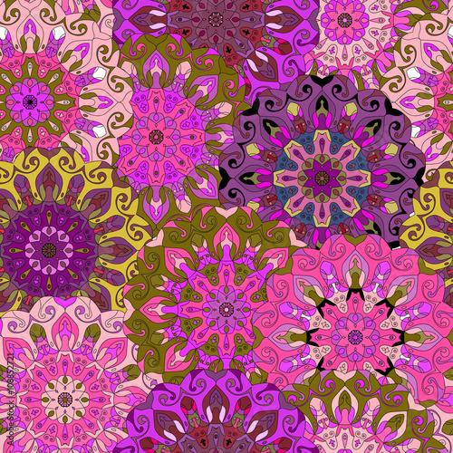 Fototapeta Seamless pattern. Vintage decorative elements.
