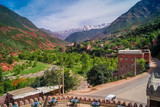 Ourika Valley Morocco. / Ourika Valley is just 30km away from Marrakesh, beautiful unspoiled nature under the mountain of Atlas.