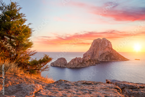 Plagát Es Vedra at sunset, Ibiza, Spain