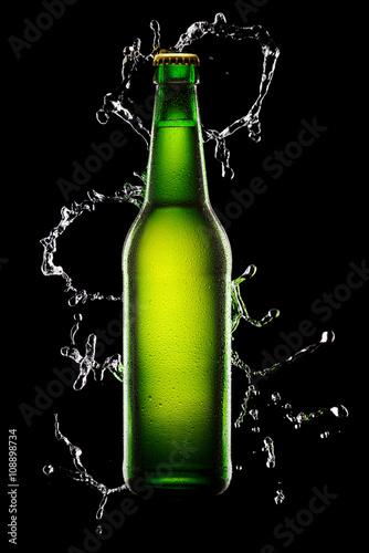 Green Bottle of beer Poster