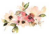 Fototapety Flowers watercolor illustration