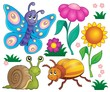 Obrazy na płótnie, fototapety, zdjęcia, fotoobrazy drukowane : Spring animals and insect theme set 2